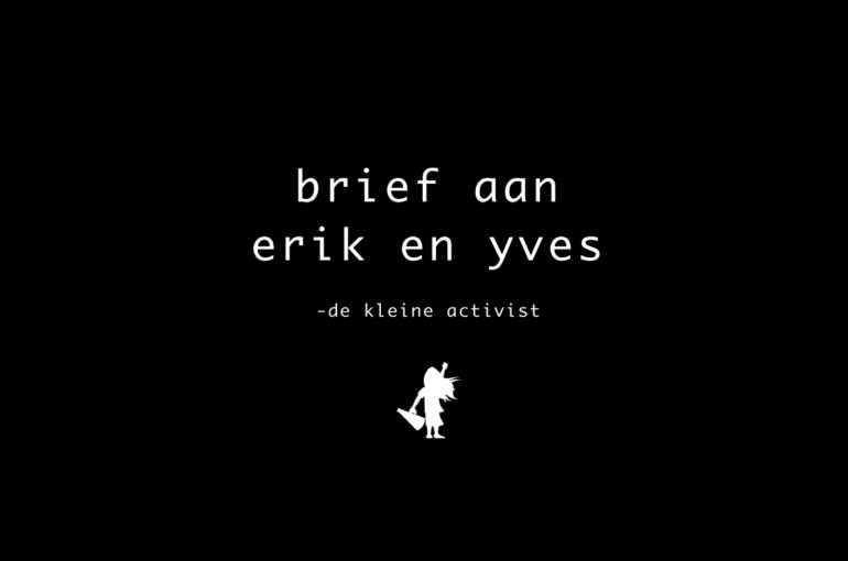 Brief aan Erik en Yves